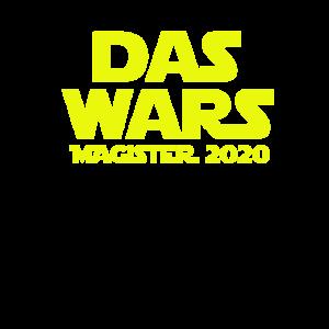 das wars Magister 2020 geschenk shirt universität