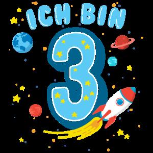 Ich bin 3 - Dritter Geburtstag Junge Mädchen
