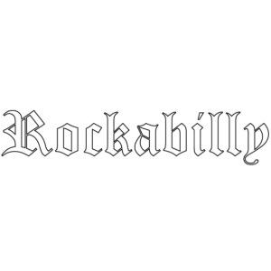 rockabilly blanc contour noir