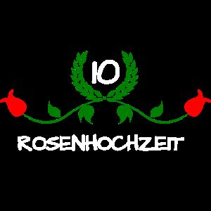 Rosenhochzeit Hochzeitstag 10 Jahre Valentinstag