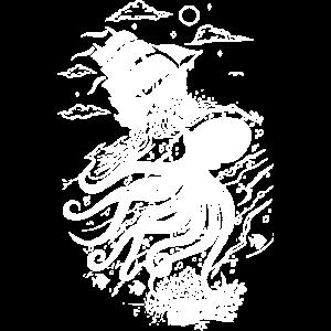 Der Kraken - Octopus im Meer T-Shirt