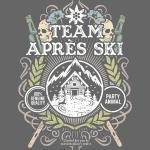 Apres Ski T Shirt Team Apres Ski | Sepia