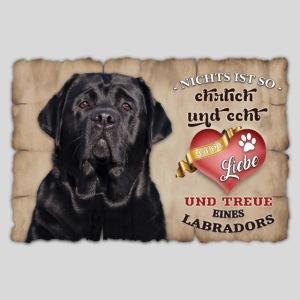 Schwarzer Labrador echte Treue & Liebe