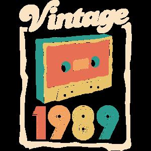 Vintage 1989 Kassette Tape 30. Geburtstag Retro