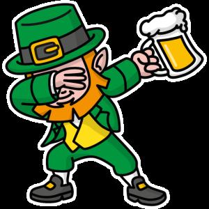 Dab dabbing leprechaun St. Patrick's Tag Bier