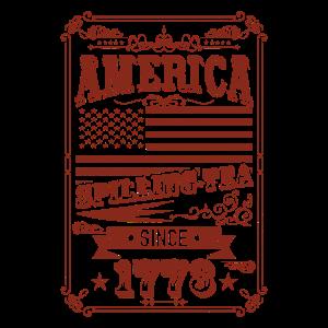 AMERIKA VINTAGE INDEPENDENCE DAY RETRO