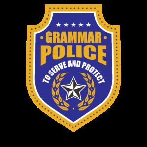 GRAMMAR POLICE LEHRER GRAMMATIK