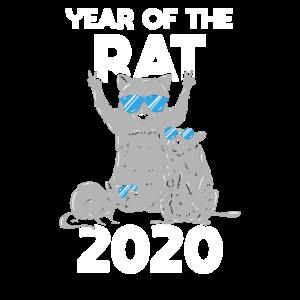 2020 Chinesisches Neujahr Ratte Tier des Jahres
