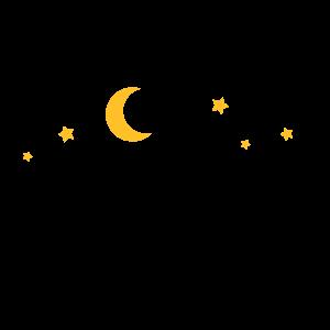 Freizeit - Camping Zelten Mond und Sterne