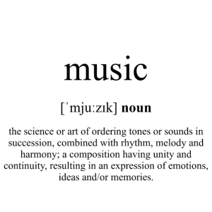 Music (Musik) Definition Unisex T-Shirt