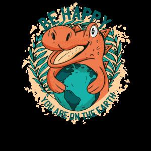 Dinosaurier Trex Welt Erde Happy
