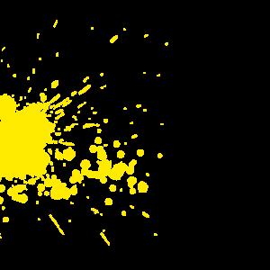 Ein gelber Farbfleck als Kunst