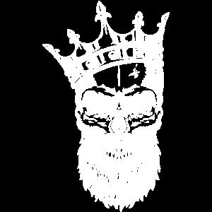 Skull Totenkopf mit Krone