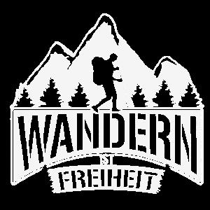 Wandern ist Freiheit - Geschenk für Wanderer