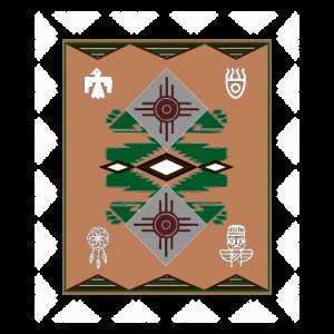 Ureinwohner Navajo Teppich Stil