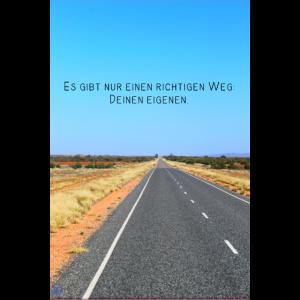 Straße Statement Sprüche Weg Australien