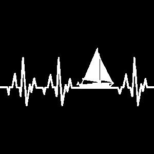 Segelboot Herzschlag Segeln