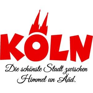 Köln zwischen Himmel un Ääd Rot Schwarz