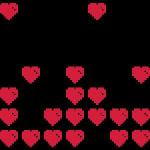 Pixel-Herzen