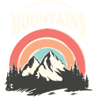 Take Me To The Mountains, Retro Vintage 70s, Hike