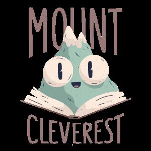 Nerd Freak Bücherwurm Mount Everest Witz Wortspiel