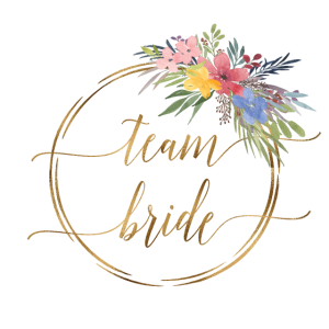 spring wreath team bride