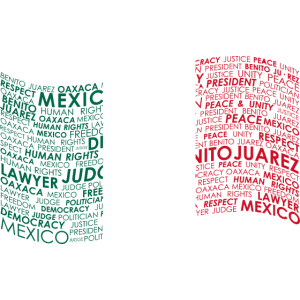 Benito Juarez Mexico Flag Wordart Democracy