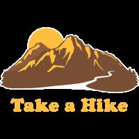 Take A Hike, Vintage Retro, 60s 70s, Mountains