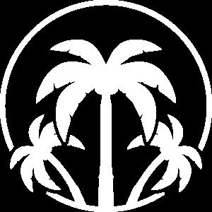 palmen icon symbol kreis