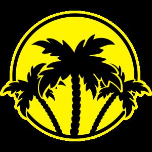 palmen icon kreis