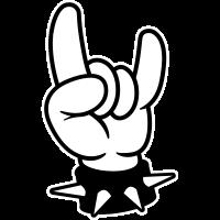 metal hand symbol