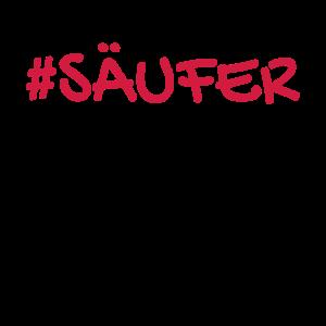 Säufer Hashtag