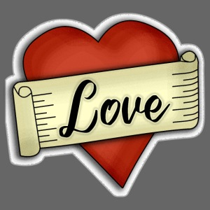 Love cœur tatouage