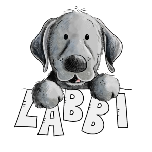 Glücklicher Labrador Retriever HundI Labbi Kopf