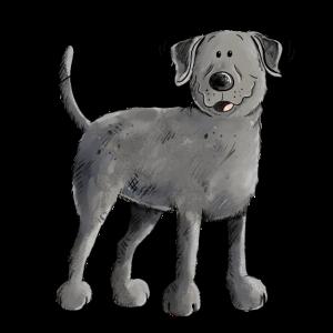 Glücklicher Schwarzer Labrador Retriever Hund