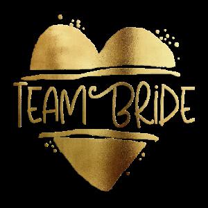 Team Bride Herz Gold 2