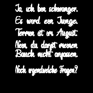 Schwanger und blöde Fragen Geburt August Junge