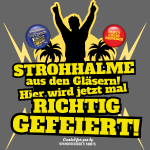 Party Crew T Shirt Strohhalme
