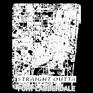 Gerader Stadtplan von Outta Fort Lauderdale