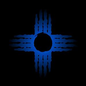 Zia Sonne Symbol Blau