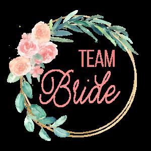 spring wreath team bride