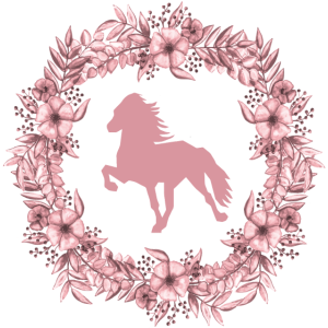 Islandpferd Kranz rosa