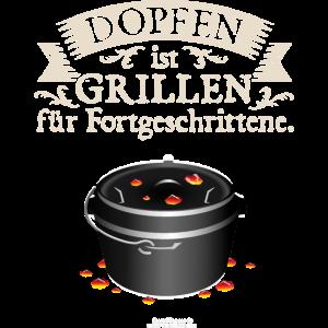 Dopfen und Grillen | ▶ Shop Dutch Oven T-Shirts