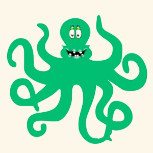 Sea Green Otopus with a goofy smile