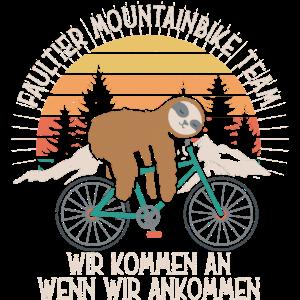Faultier Mountainbike Team -Geschenk für Faulenzer