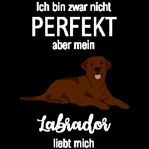 Labrador liebt mich - lustiges Hunde Geschenk