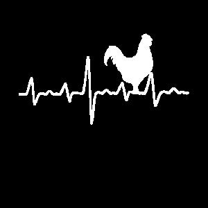 Huhn Herzschlag Chicken Hahn Heartbeat Bauernhof