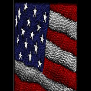 amerikanische Wolleffektfahnen