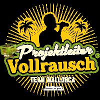 T Shirt Projektleiter Vollrausch (R) Team Mallorca