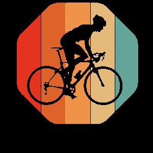 Vintage Retro Fahrrad Radfahren Radfahrer T-Shirt